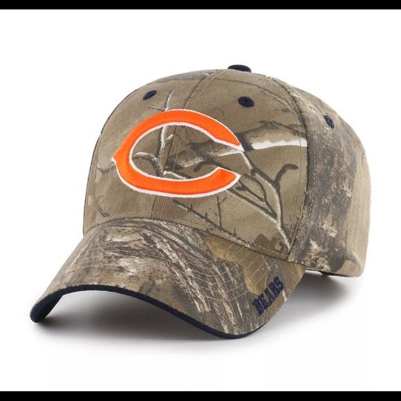 new style 2861b cb789 NFL Team Apparel Chicago Bears Camo Hat NWT